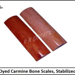 Carmine Bone Knife Scales
