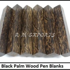 Black Palm Pen Blanks