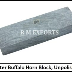 Water Buffalo Unpolished Horn Blocks