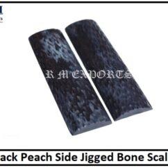 Black Peach Bone Scales