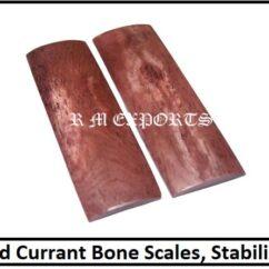 Currant Bone Knife Scales