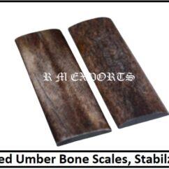 Umber Bone Knife Scales
