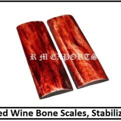 Wine Bone Knife Handle Scale