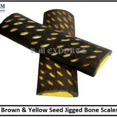 Brown & Yellow Seed Jigged Bone Scales