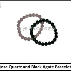 Rose Quartz and Black Agate Bracelet-min.jpg