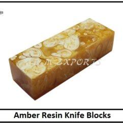 Amber Resin Knife Blocks