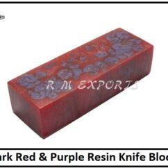 Red Purple Resin Blocks