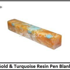 Gold & Turquoise Pen Blanks