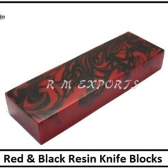 Red Black Resin Blocks