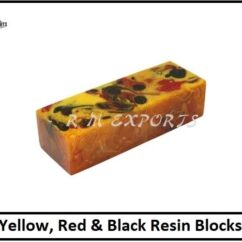 Yellow Red & Black Resin Blocks