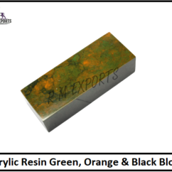 Green Orange & Black Resin Blocks