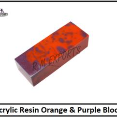 Orange Purple Resin Blocks