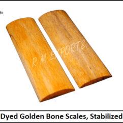 Golden Bone Knife Scales