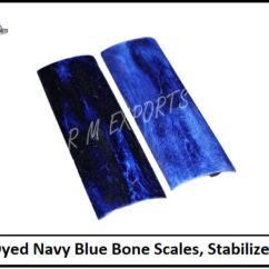 Navy Blue Bone Scales